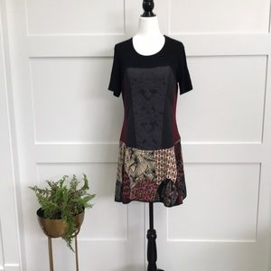 KOLLONTAI Patchwork Dress - NEW. Made in 🇨🇦